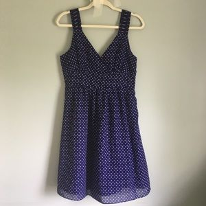 Gap blue and white polka dot dress